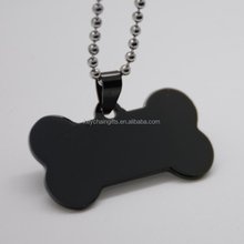 Stainless steel blank dog tags wholesale with necklaces