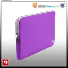 11 inch Purple laptop sleeve with gray zipper
