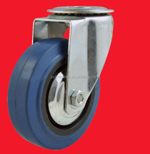 caster and wheel with blue elastic rubber