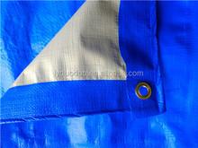 4x5m with eyelet blue/white pe tarpaulin laminated both side
