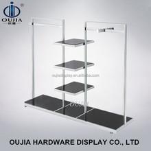 garment shop standing clothes rack/shop furniture display/metal hanging clothes display racks