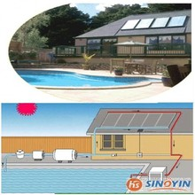 flat plate copper pipe solar pool water heater collector