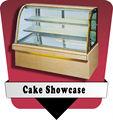 Curva comercial panadería vitrina refrigerada cake showcase