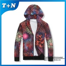 oem 3d sublimation french terry animal print customised hoodies