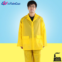 Workplace Safety yellow pvc rubber suit rubber coat