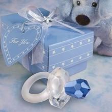 Fashion blue Crystal pacifier wedding decoration in wedding supplies