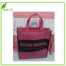 HOT PINK non woven pizza bag