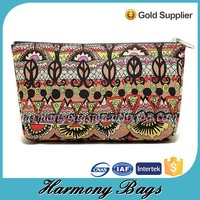 Simple design customized printing canvas cosmetic case