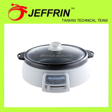 Super quality new arrival electric hot pot with grill