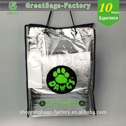 Reusable pvc coated cotton shopping bag