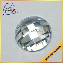 qulity control round cut cz stone checkboard cutting round cut loose zirconia gems