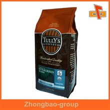 Heat sealed customized side gusset coffee packs for powder