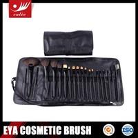 New Cosmetic Brush Set,Made of Black Aluminium Ferrule and Wooden Handle