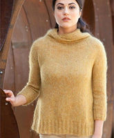 100% acrylic knitted fancy pullover