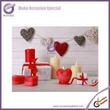 k5578 chinese chaep popular wedding white heart shaped candle
