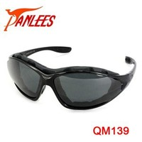 Panlees wholesale manufacture motorcycle riding glasses outdoor motorcycle goggle cycling sunglasses with interchangeable temple
