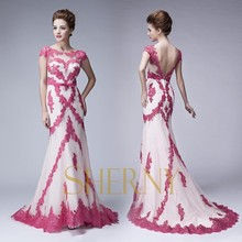 Sherny Bridals V-Backless New Design Night Evening Party Dress Free Prom Gowns