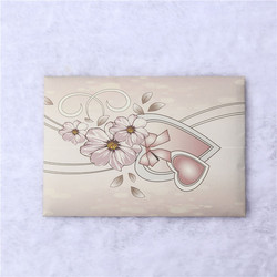 Customized order welcome recycle blank greeting card and envelope