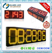 outdoor digital sign 7 segment led display IP65 with GPS , HOT selling!!!!!!!!!!!