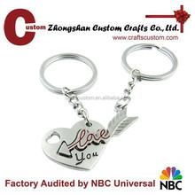 Alloy made love couple keychain