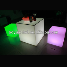 led light up cube table / cube chair with table