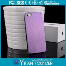 Para el iphone caso 5, de lujo de metal cepillado de aluminio caso para el iphone 5