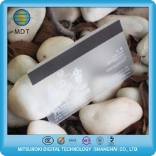 PVC Transparent Card With Magnetic Stripe