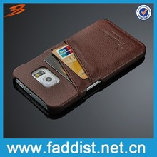 Best quality luxury phone case for samsung s6 edge with credit card slots design