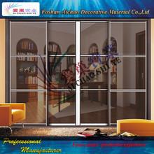 wood cabinet door wood furniture sliding wardrobe door with SGS from China