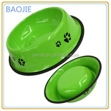 Novely custom printing stainless steel pet bowl dog water bowl for small animal