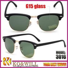 rb 3016 G15 lenses wayfarer clubmaster persol oculos de sol men women sun glasses lentes de sol gafas de sol fashion sunglasses