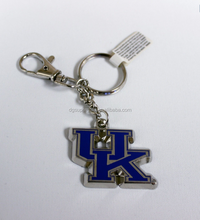 Hot sell University NCAA Basketball National Champions Bronze Keychain metal pvc