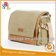 China Supplier Canvas Camera Bag & Camera Messenger Bag& High Quality Dslr Camera Bag