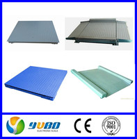 With SQB load cells with YAOHUA A12 A12E indicator 1.5x1.5m 1ton 2 ton 3 ton floor scales