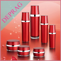 2015 new bamboo shape cosmetic acrylic bottle,red packaging for cosmetic products,white packaging for cosmetics