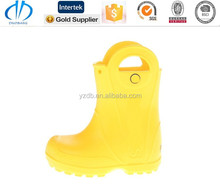 soft leather top models yellow women rubber rain boots