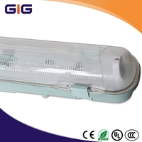 Wall mounted 2ft 4ftg 5ftg T8 T5 Lamp IP65 Fluorescent waterproof light fixture