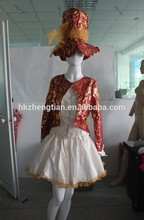 Instyles Quanzhou China manufacturer Womens Sexy Mad Hatter Tea Party Alice In Wonderland Fancy Dress Costume Corset red brocad