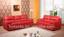 2015 European Design Sectional Corner Sofa, Full Aniline leather Sofa with modern furniture feet