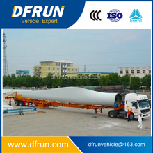 China trailer manufacuturer for wind blade transportation / wind turbine or wind tower transporter extendable semi trailer
