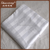 wholesale wide width hotel stripe fabric /textile factory supply bed sheet stripe fabric
