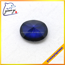 yuanyi jewelry best quality sapphire stone artificial oval cut 113# blue spinel gems