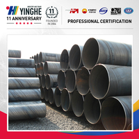 api 5l SSAW Spiral Welded steel pipe/tube Piling pipe sewage pipe