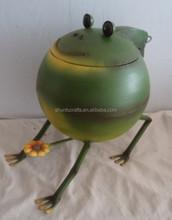 Casting iron metal frog animal christmas garden decoration art ornaments