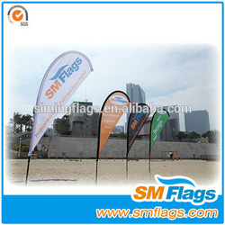 Top seller nylon beach flag manufactory