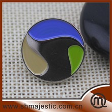 round metal lapel pins, color painted custom lapel pins