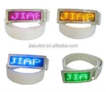 Scrolling Message rechargeable led rhinestone blank belt buckles wholesale(LED Belt Buckles)