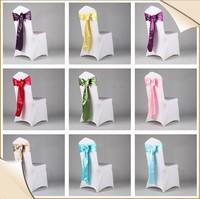 Cheap wedding chair sashes/chair decorative sashes/party rose chair sash brooch