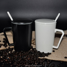 12 OZ sublimation white/black ceramic coffee mug