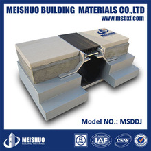 Flexible floor concrete expansion joint sealant with aluminum frame